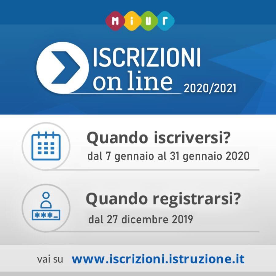 Risultati immagini per iscrizioni on line 2020/21